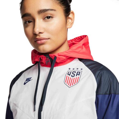 Womens Nike USA OG Windrunner Jacket – White/Dark Obsidian/Loyal Blue
