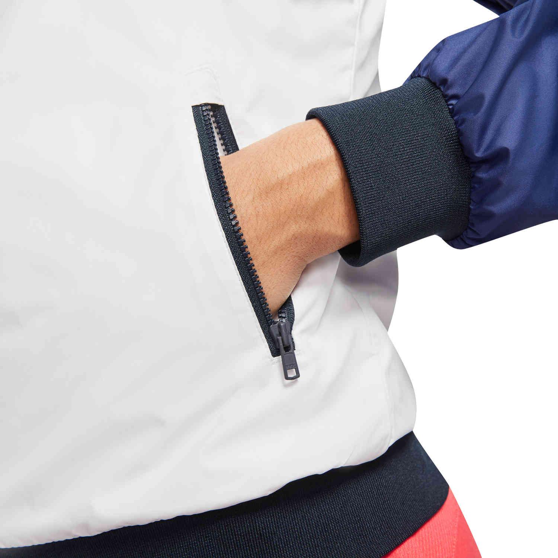 Womens Nike USA OG Windrunner Jacket - White/Dark Obsidian ...