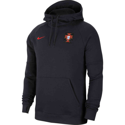 Nike Portugal Pullover Fleece Hoodie – Black & Sport Red