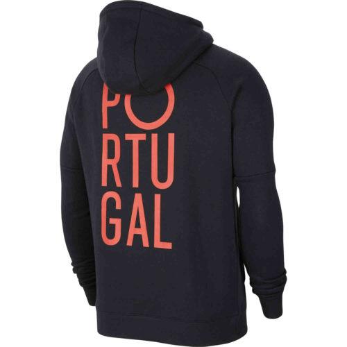 Nike Portugal Pullover Fleece Hoodie – Black & Sport Red