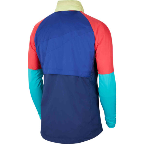 Nike Barcelona AWF LTE Graphic Jacket – Deep Royal Blue/Blue Void/Light Fusion Red/Oracle Aqua