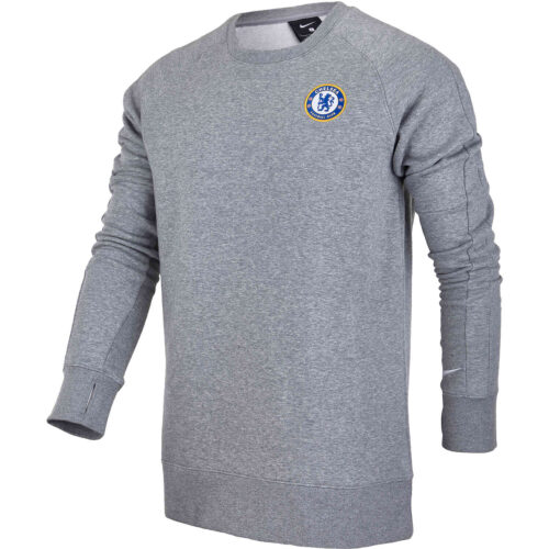 Nike Chelsea Lifesytle Fleece Crew – Dark Grey Heather