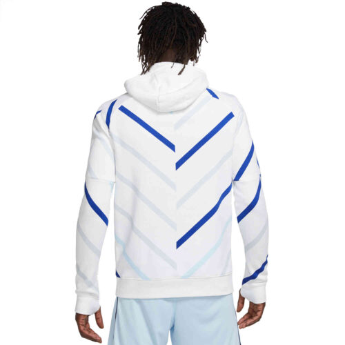 Nike Chelsea Lifesytle Fleece Pullover Hoodie – White/Cobalt Tint
