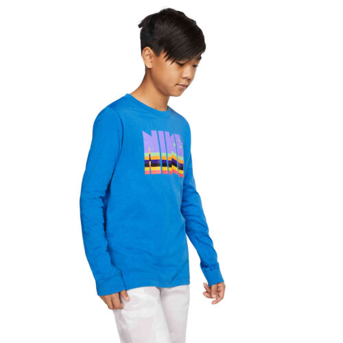 Kids Nike Babyteeth L/S Tee – Battle Blue