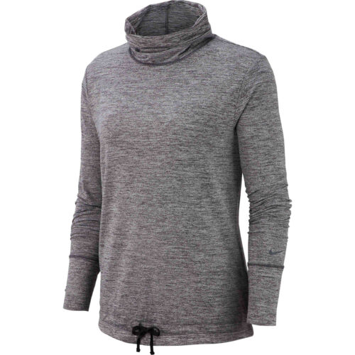 Womens Nike Funnel Neck Coverup – Black Heather