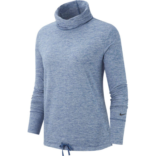 Womens Nike Funnel Neck Coverup – Mystic Navy Heather