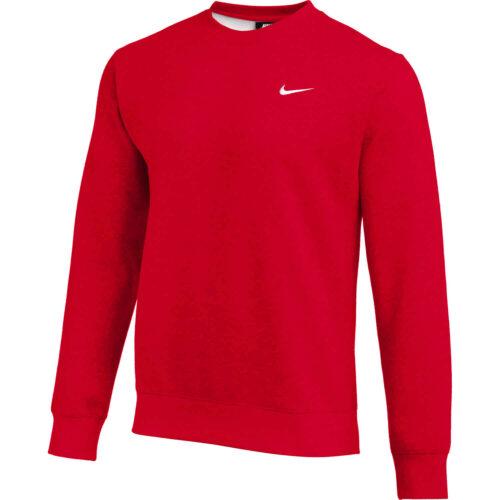 Nike Club Fleece Crew – Scarlet
