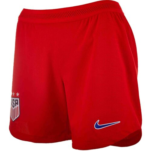 Womens Nike USWNT Away Match Shorts – Speed Red/Bright Blue