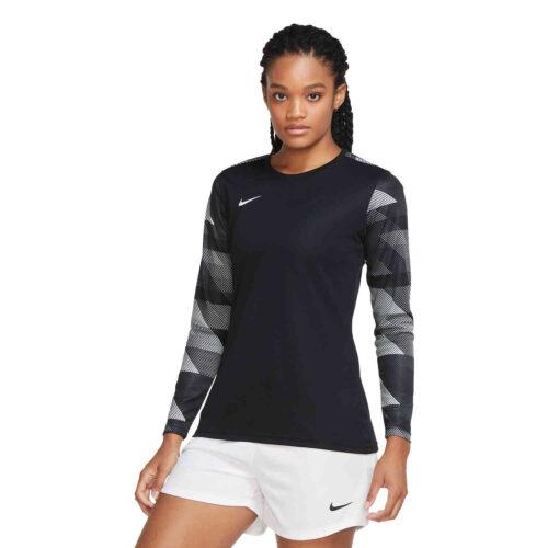Womens Nike Park IV Team Goalkeeper Jersey – Black & White with White