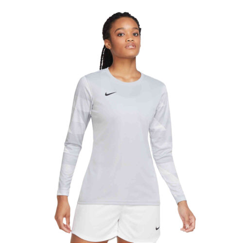 Womens Nike Park IV Team Goalkeeper Jersey – Wolf Grey & White with Black
