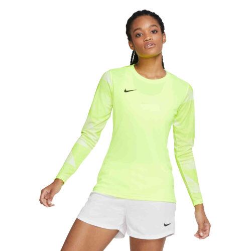 Womens Nike Park IV Team Goalkeeper Jersey – Volt & White with Black