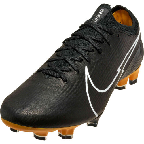 Nike Tech Craft Mercurial Vapor 13 Elite FG – Black & White with Pro Gold with Metallic Gold