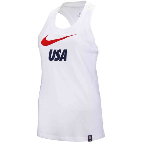 Womens Nike USWNT Graphic Tank – White