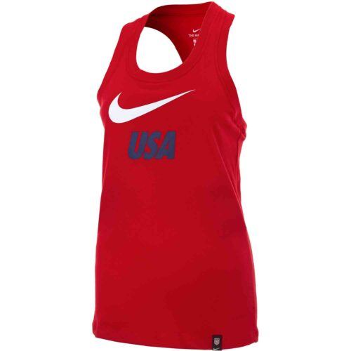 Womens Nike USWNT Graphic Tank – University Red