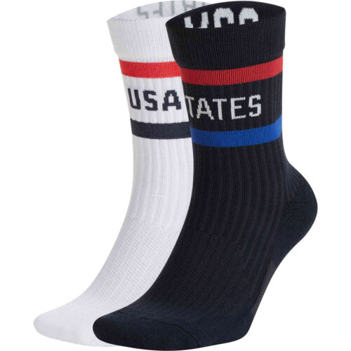 Nike USA Crew Socks – Dark Obsidian & Speed Red – 2-Pair