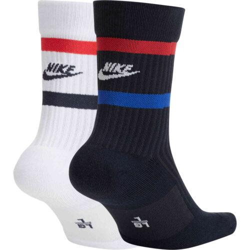 Nike USA Crew Socks – Dark Obsidian & Speed Red – 2-Pair