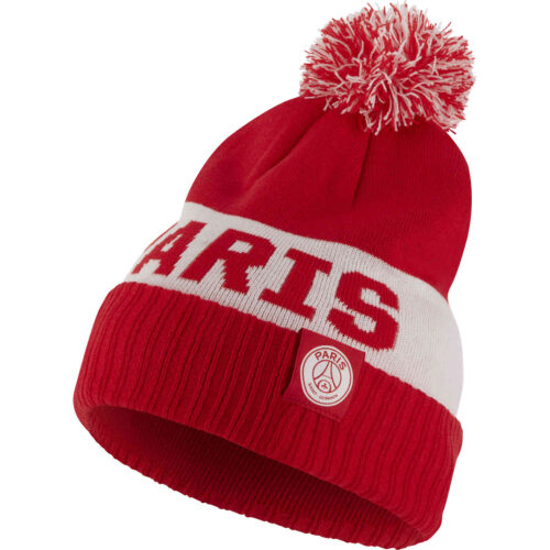 Nike PSG Pom Beanie – University Red/White/White