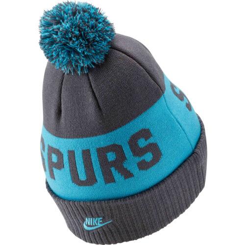 Nike Tottenham Pom Beanie – Flint Grey/Blue Fury/Blue Fury