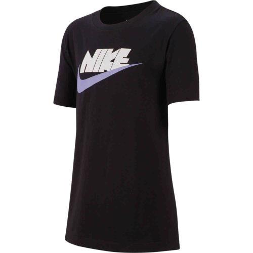 Kids Nike Reflective Futura Tee – Black