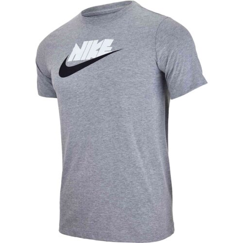 Kids Nike Reflective Futura Tee – Dark Grey Heather