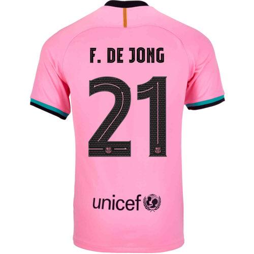 2020/21 Kids Nike Frenkie de Jong Barcelona 3rd Jersey