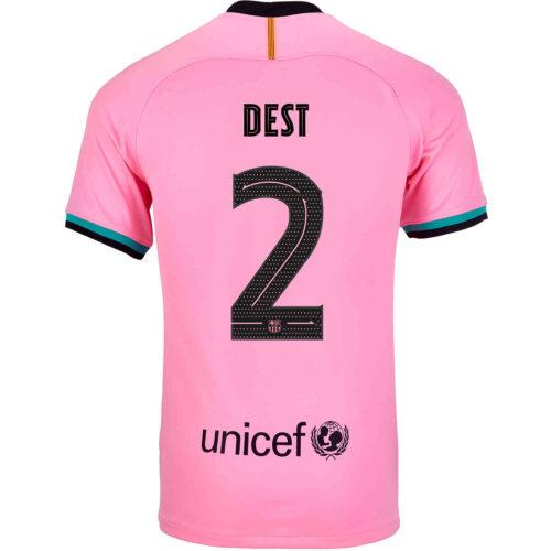 2020/21 Kids Nike Sergino Dest Barcelona 3rd Jersey