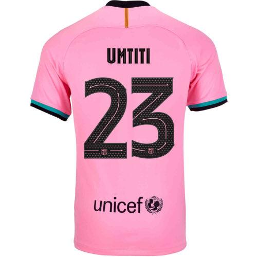 2020/21 Kids Nike Samuel Umtiti Barcelona 3rd Jersey