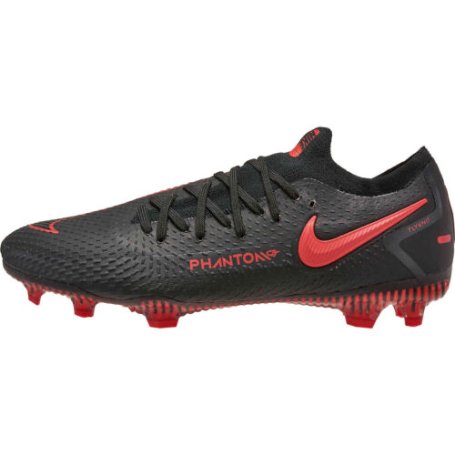 Kids Nike Phantom GT Elite FG – Black x Chile Red Pack