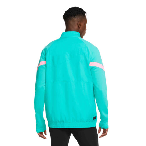 Nike Barcelona Woven Travel Jacket – New Green/Pink Beam