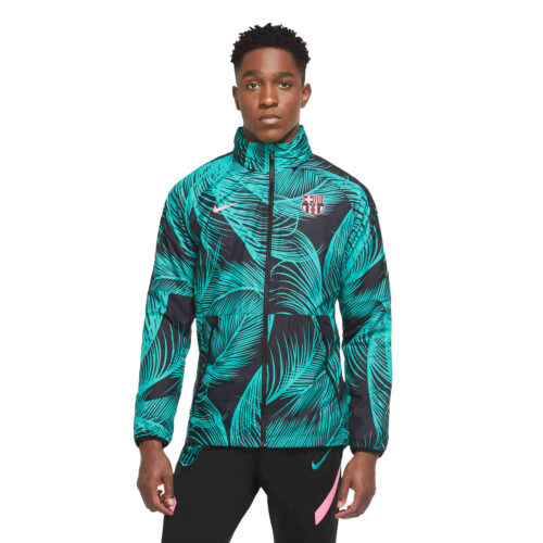 Nike Barcelona AWF LTE Jacket – New Green/Black/Pink Beam