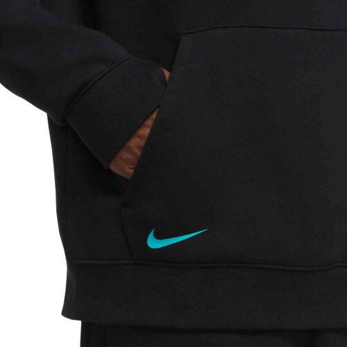 Nike Barcelona Fleece Pullover Hoodie – Black/New Green/Pink Beam
