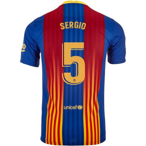 2020/21 Kids Nike Sergio Busquets Barcelona El Clasico Jersey