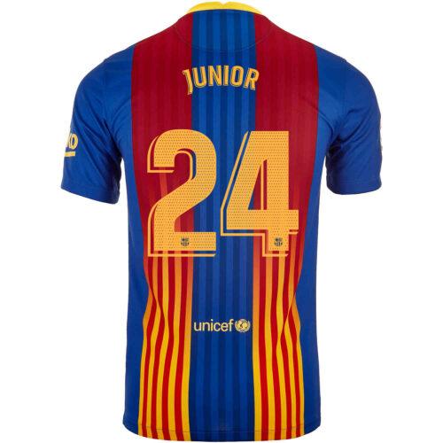 2020/21 Kids Nike Junior Firpo Barcelona El Clasico Jersey