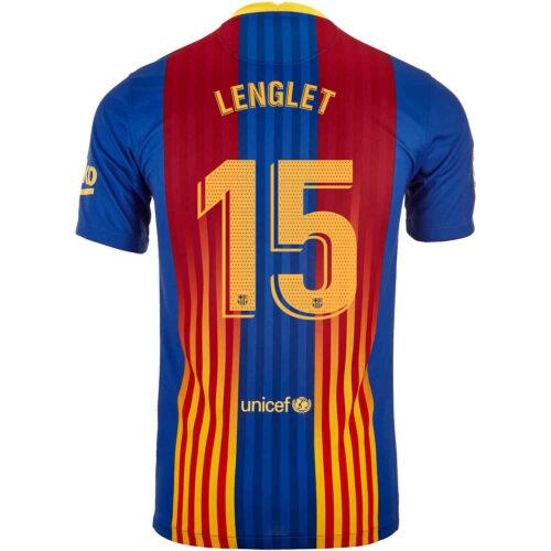 2020/21 Kids Nike Clement Lenglet Barcelona El Clasico Jersey