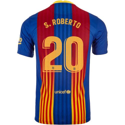 2020/21 Kids Nike Sergi Roberto Barcelona El Clasico Jersey