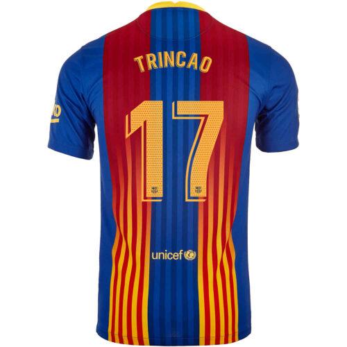 2020/21 Kids Nike Francisco Trincao Barcelona El Clasico Jersey