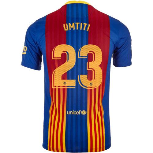 2020/21 Kids Nike Samuel Umtiti Barcelona El Clasico Jersey