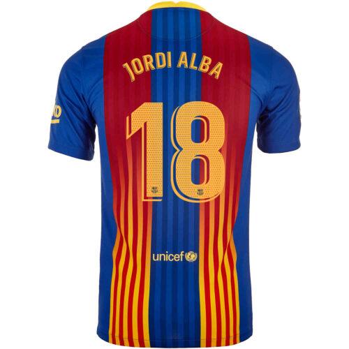 2020/21 Nike Jordi Alba Barcelona El Clasico Jersey