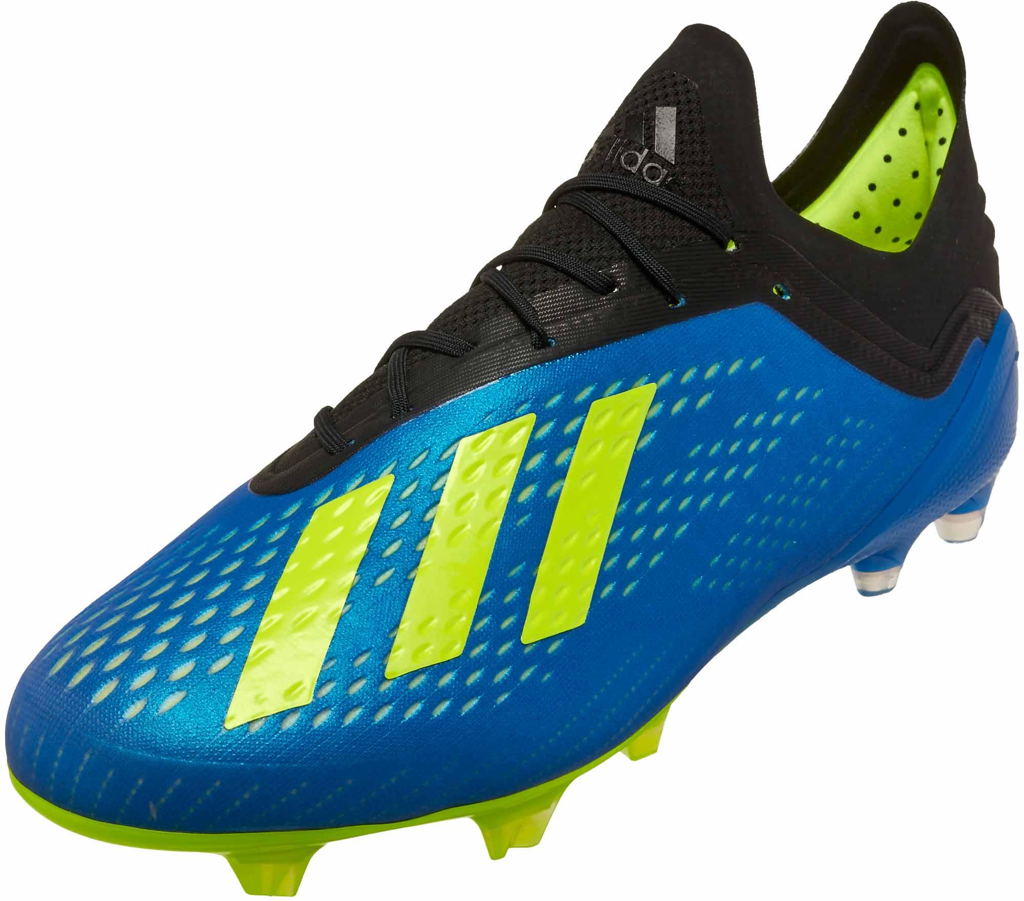 wholesale dealer 20183 4e333 adidas X 18.1 FG – Football Blue Solar Yellow