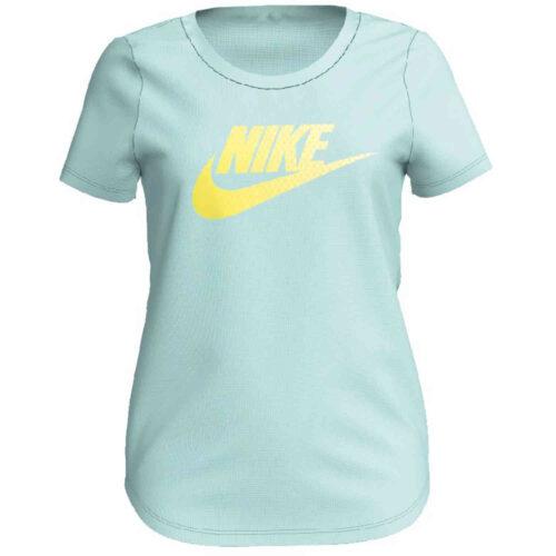 Girls Nike Futura Scoop Tee – Teal Tint/Dynamic Yellow