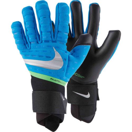 Nike Phantom Elite Goalkeeper Gloves – Photo Blue & Black with Silver