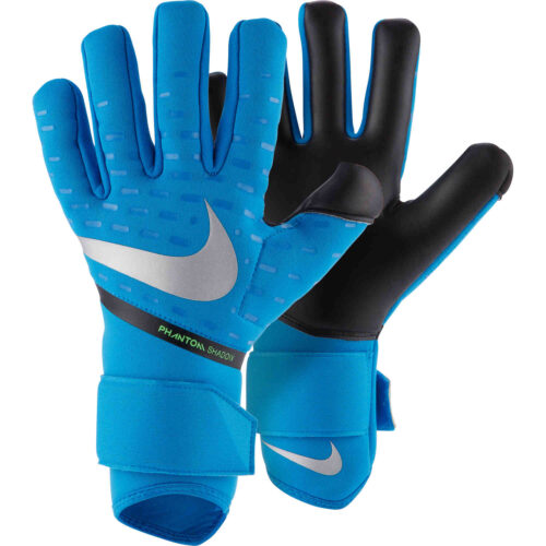 Nike Phantom Shadow Goalkeeper Gloves – Photo Blue & Black with Silver