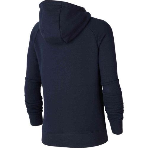 Kids Nike Barcelona El Clasico Pullover Fleece Hoodie – Dark Obsidian/Varsity Maize