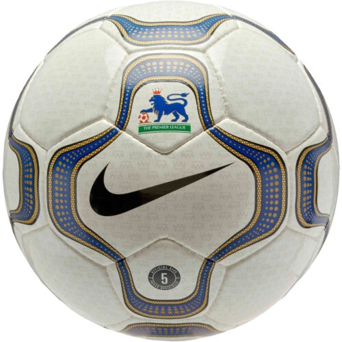 Nike Premier League Geo Merlin Official Match Soccer Ball – White & Black with Blue