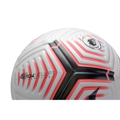Nike Premier League Flight Official Match Soccer Ball – White & Laser Crimson with Black