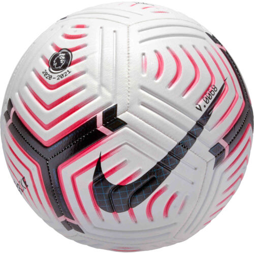 Nike Premier League Strike Soccer Ball – White & Laser Crimson with Black