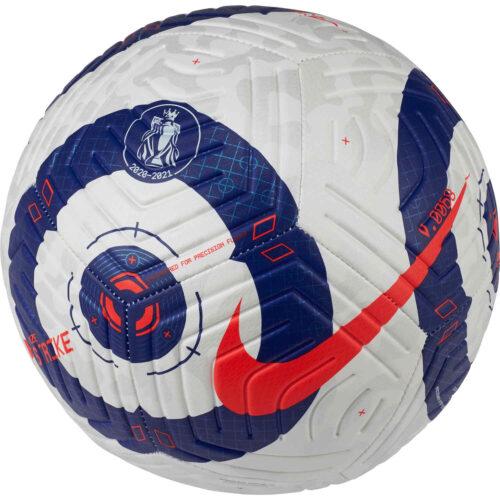 Nike Premier League Strike Soccer Ball – White & Blue with Laser Crimson