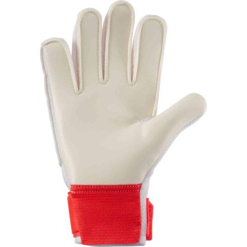 Kids Nike Match Goalkeeper Gloves – Bright Crimson & Platinum Tint with Indigo Burst