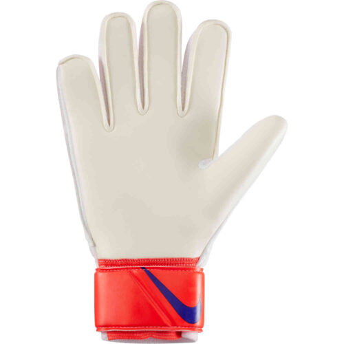 Nike Match Goalkeeper Gloves – Bright Crimson & Platinum Tint with Indigo Burst