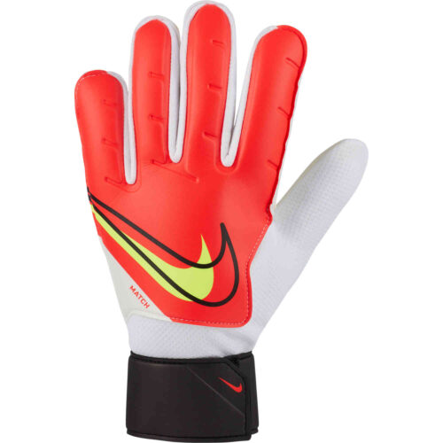 Nike Match Goalkeeper Gloves – Bright Crimson & Black with Volt